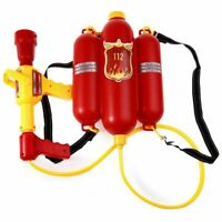Kids Cute Outdoor Super Soaker Blaster Fire Backpack Pressure Squirt Pool  Q0J1