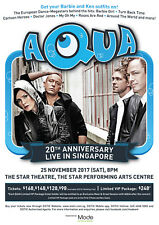 "AQUA ""20TH ANNIV. LIVE IN SINGAPORE"" 2017 CONCERT TOUR POSTER - Euro dance / pop"