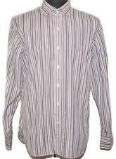 Ralph Lauren Polo Shirt Long Sleeve Formal Striped Purple Multicolor 42 L 16.5