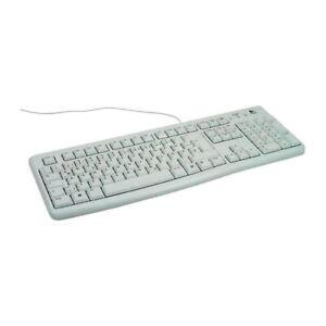 Logitech K120 Wired Keyboard - German Layout - White