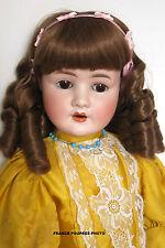 """perruque boucles anglaises Jumeau®34/36cm-poupée ancienne-doll Wig head sz14"""""""