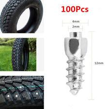 100x 12mm Screw in Tire Stud Snow Trim Wheel Tyre Spikes For Car ATV UTV 4X4 AP
