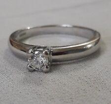 Stunning Solid 18 Carat 18ct White Gold Diamond Engagement Ring Hmkd 3.3g Size P