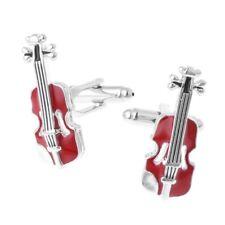 GEMELOS para camisa, violin, elegantes, instrumento, rojo-ENVIO GRATIS a ESPAÑA