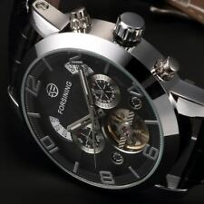 Montre Automatique de Luxe Tourbillon date cuir Top Marque homme men watch PROMO