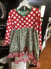 Nwt New Sage & Lilly Girls Christmas Tunic Leggings Outfit Size 4