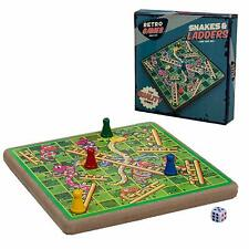 VINTAGE RETRO RIDLEYS FAMILY SNAKES AND LADDERS CLASSIC BOARD GAME NEW AND BOXED