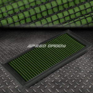 FOR 09-17 VW A5 PQ35 2.0T GREEN REUSABLE&WASHABLE HIGH FLOW DROP IN AIR FILTER