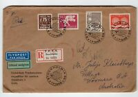 Sweden 1955 registered cover to WOOMERA Australia