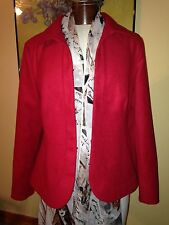 CHICO'S RED HOOK FRONT JACKET BLAZER WITH PATCH POCKETS SIZE 2