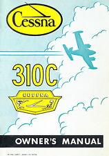 CESSNA 310C - OWNER'S MANUAL -1958