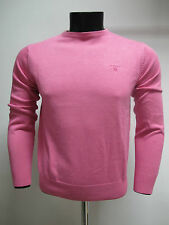 GANT suéter de hombre algodón cuello redondo 83071 arte. col. FUXIA T. M verano