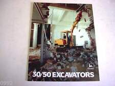 John Deere 30 & 50 Hydraulic Excavator Color Brochure                         b2