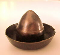 "Lost Wax Cast Bronze  ""Tequila Hat Bottle Cap"" Decorative  Sculpture   Fine Art"