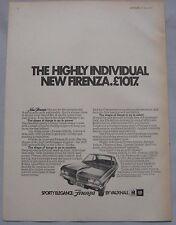 1971 Vauxhall Firenza Original advert No.1