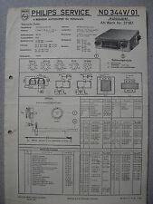 Philips ND344V-01 Autoradio Schaltplan Ausgabe 11/55