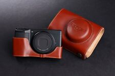 Genuine Real Leather Full Camera Case Bag Cover for Ricoh GR GR II Brown Color