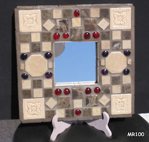 Beautiful Brown Handmade Mosaic Wall Mirror - MR100