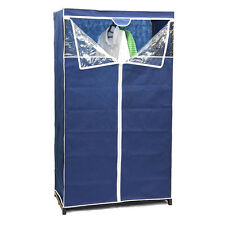 Sunbeam Free Standing Zippered Storage Closet Organizer, 36 Inch, Navy Blue