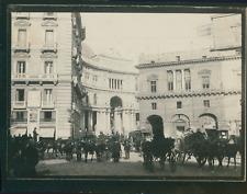 Italie, Naples, Entrée de la Galleria Umberto I, ca.1900, Vintage silver print V