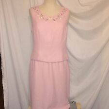 Le Suit Petite Women To Please Pink Suit With Embroidery Size 8 Petite