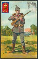 2 Farbkarten, mit 2 Soldaten - 1x mit Marke
