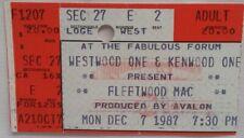 Fleetwood Mac / Stevie Nicks - Vintage Dec 7, 1987 Concert Ticket Stub