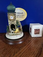 HUMMEL 285-P MINIATURE THE MAIL IS HERE CLOCK TOWER VIGNETTE GOEBEL OLSZEWSKI