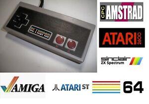 RETROPAD retro game pad controller Joystick for Amiga / Atari / C64 / Amstrad...