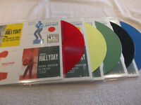 """LOT DE 5   maxi 45t  Johnny Hallyday  """"4 juke-box sur 1 maxi 45T"""""""