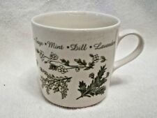 Corelle Impressions Thymeless Herbs Coffee Tea Cup Discontinued