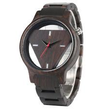 Triangle Wood Watch Men's Wooden Quartz Watches Full Bamboo Strap Bracelet