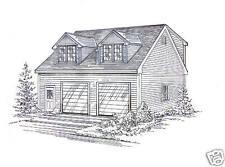 30x32  2 Car 2- 8 ft Dormers Garage Building Blueprint Plans with Dormered Loft