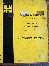 Hyster Electric Forklift Parts Manual W10a W20aa W30a W30aa 0175 Lot 708