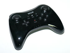 Genuine Nintendo Wii U Video Game Black Wireless Remote Pro Controller Gamepad