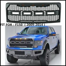 Fits 2009-2014 Ford F150 Raptor Style Conversion Front Hood Grille W/ LED Grill