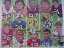 12 Hand-Signed 2005 SEC Legends Poster-Zeke Bratkowski/Cornelius Bennett-10 More