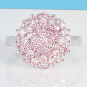 1.3Ct Natural Pink Diamond 10K White Gold Ring Color Enhanced RPG80-10-7-4