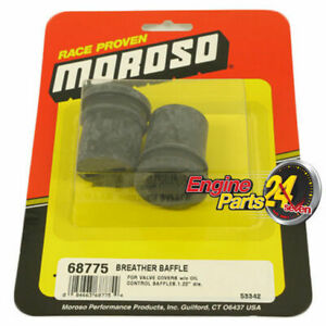 """VALVE ROCKER COVER BREATHER GROMMETS WITH BAFFLE SUITS 1.220"""" HOLE MOROSO 68775"""