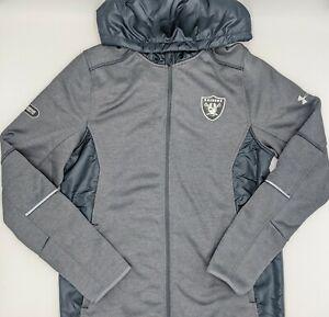 Las Vegas Raiders Under Armour Storm NFL Combine Authentic Full Zip Hoodie Small