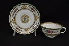Wedgwood Columbia Medallion Green Trim W595 Cup & Saucer