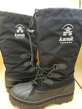 Kamik mens snow boots w/removable insulated inserts black size 7