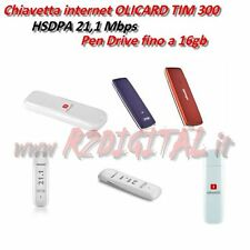 CHIAVETTA INTERNET OLICARD 300 TIM HSDPA UMTS 21,1MBPS CARD PEN 16Gb WINDOWS WEB