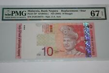(PL) NEW: RM 10 ZG 0136575 PMG 67 EPQ ZETI 11TH SERIES LAST REPLACEMENT GEM UNC