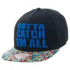 Pokemon Gotta Catch Em All Bioworld Black Baseball Cap Snapback Hat