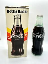 Coca Cola AM BOTTLE RADIO In Box 1970 Vintage W/ Manual TESTED WORKING
