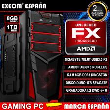 Ordenador Gaming Pc Amd FX6300 X6 8GB DDR3 1TB HDD nVidia 7025 De Sobremesa