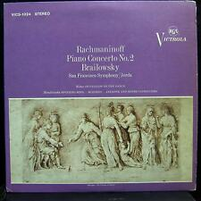 Jorda Brailowsky - Rachmaninoff No 2 LP VG+ VICS-1024 Vinyl 1963 Record