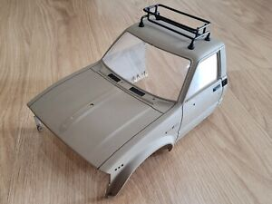 """Use Tamiya 1/10 RC Toyota Hilux Bruiser Front Cab Clear Window Rack """"Crack Roof"""""""