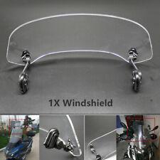 Adjustable Motorcycle Bike Heighten Windshield Front Windscreen Acrylic Clear